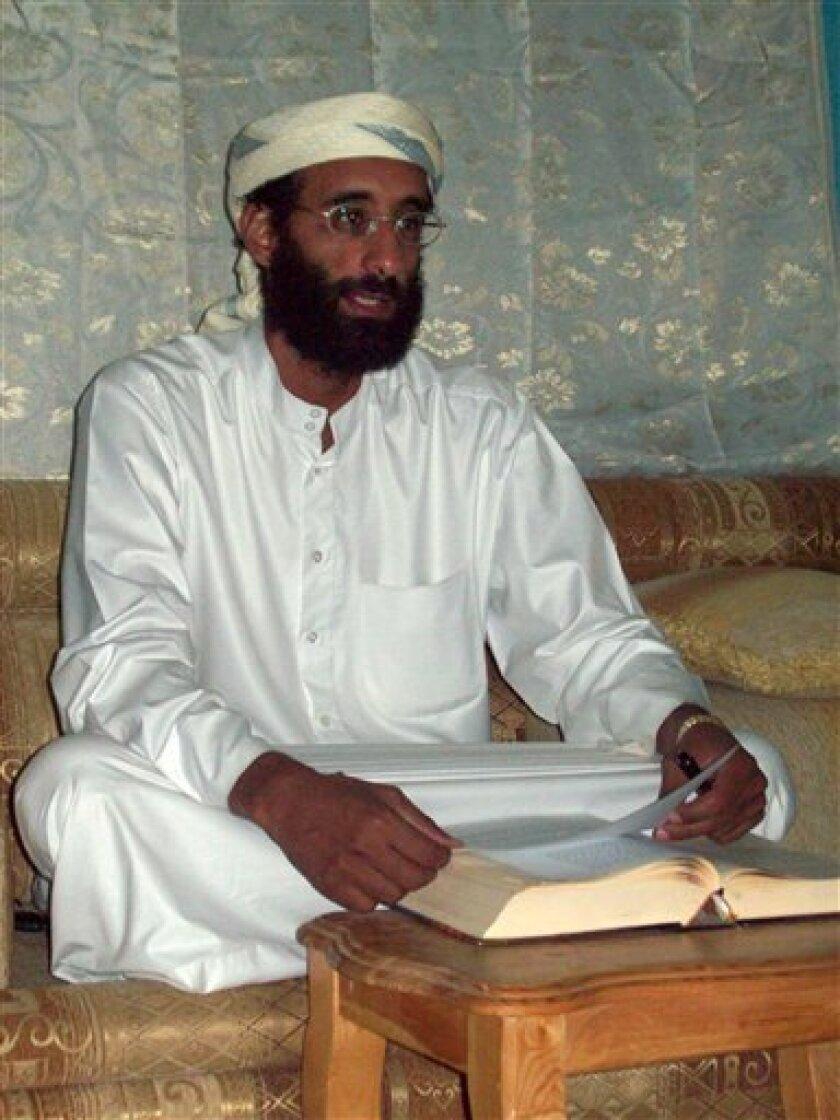 U.S.-born al-Qaida cleric Anwar al-Awlaki (AP Photo/Muhammad ud-Deen)