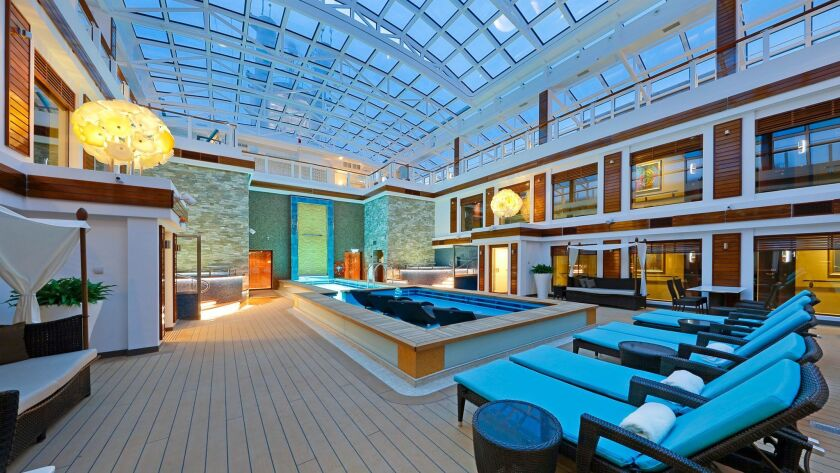Haven is Norwegian Cruise Line's ship-within-a-ship and is available on eight of the line's large vessels. Here is a Haven courtyard.