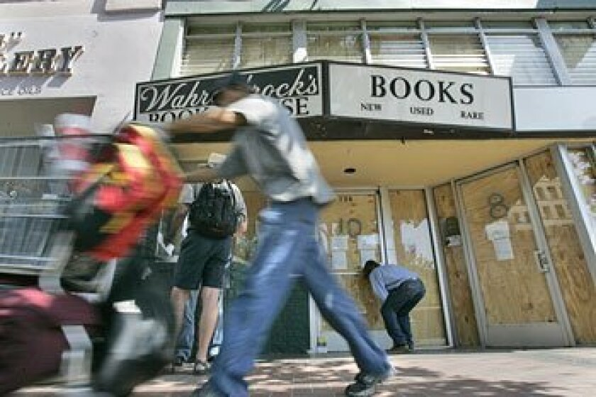 Wahrenbrock's Book House, on Broadway in San Diego for 74 years, closed abruptly Thursday.  (John Gastaldo / U-T)
