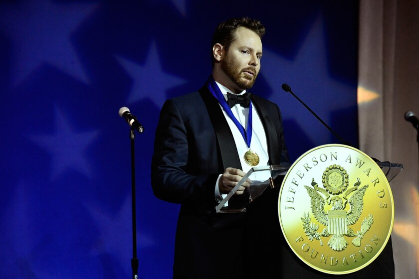 Silicon Valley oligarch and renowned rule-breaker Sean Parker, shown accepting the S. Roger Horchow Award on June 16, is finding that the rules of politics are not easily broken.