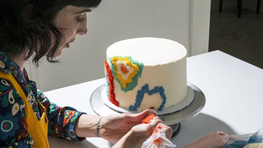 LOS ANGELES - MARCH 25, 2019: Los Angeles based baker and cake designer Alana Jones-Mann has become