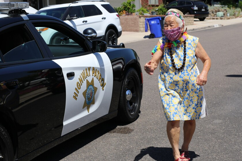 Longtime Santee resident Anita Bautista, of Philippine and Hawaiian descent, was given a drive-by parade on May 4 by Santee residents and public safety officials for her 81st birthday. The city has been reeling from race-related incidents on May 2 and again on May 7 at different Santee grocery stores.