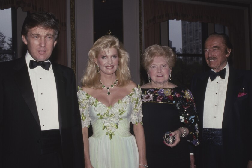 NEW YORK, NY - 1987: Donald Trump, Ivana Trump, Mary Trump and Fred Trump attend PAL Dinner in May 1987 at The Plaza Hotel in New York City. (Photo by Sonia Moskowitz/Getty Images)