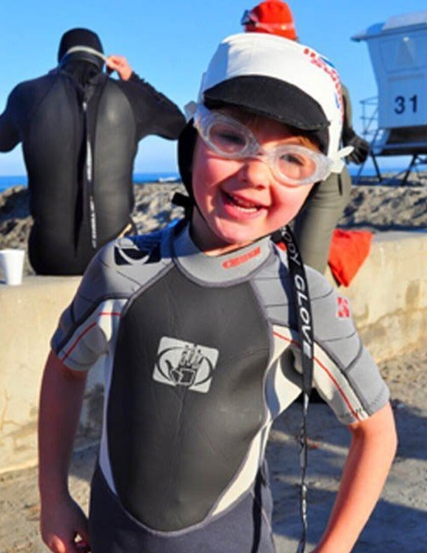 A young participant at last year's Rotary Swimarathon. File