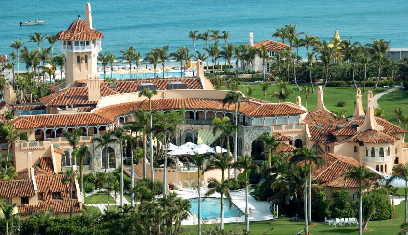 El club Mar-a-Lago del presidente Donald Trump en Palm Beach, Florida,