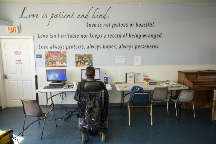 Homeless shelter at Lighthouse Church of the Nazarene in Costa Mesa