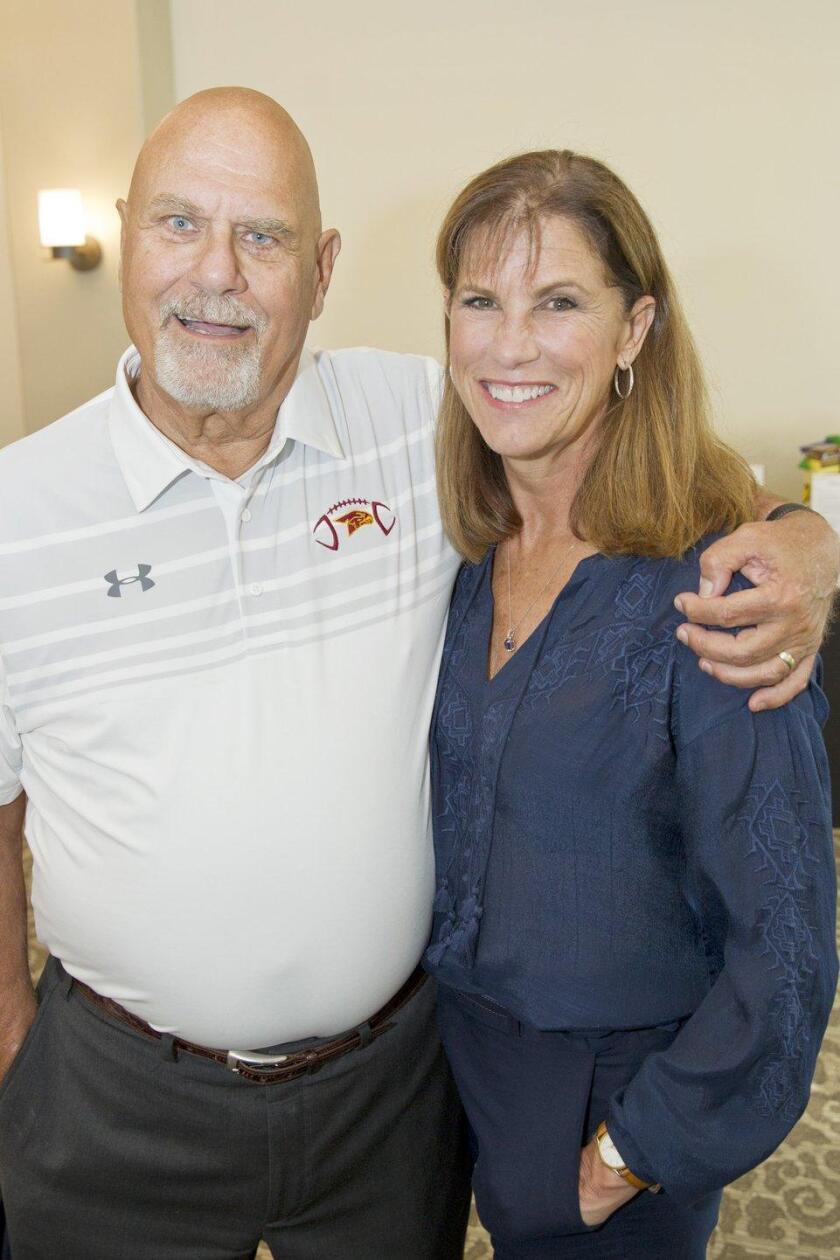 Varsity coach Jim and Robin Ciancimino