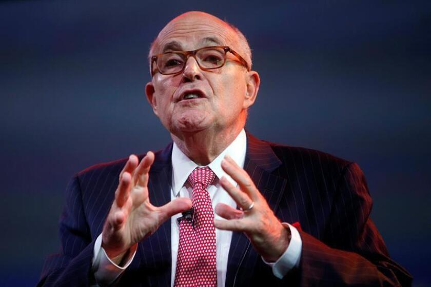 El exalcalde de Nueva York, Rudolph Giuliani. EFE/Archivo