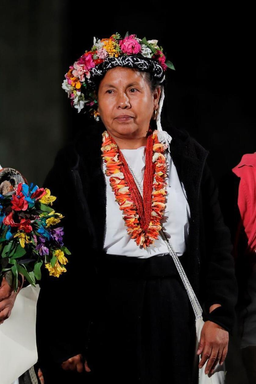 En la imagen la indígena mexicana que es precandidata independiente a la presidencia de México, María de Jesús Patricio Martínez.