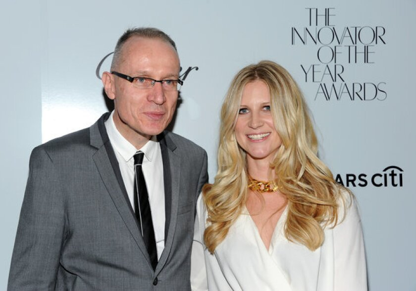 News Corp. Chief Executive Robert Thomson, shown with Wall Street editor in chief Kristina O'Neill in 2012, declined to provide any hints about his company's acquisition strategy.