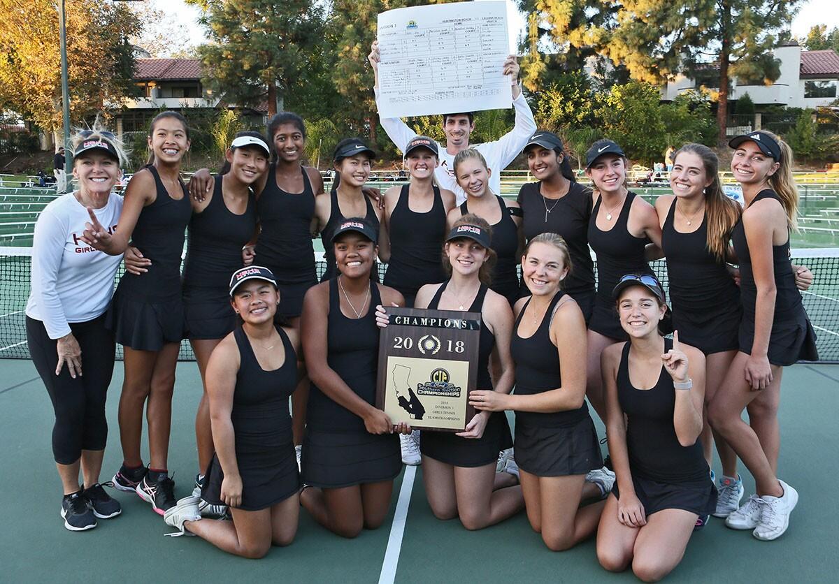 Photo Gallery: Huntington Beach vs. Laguna Beach in girls' tennis