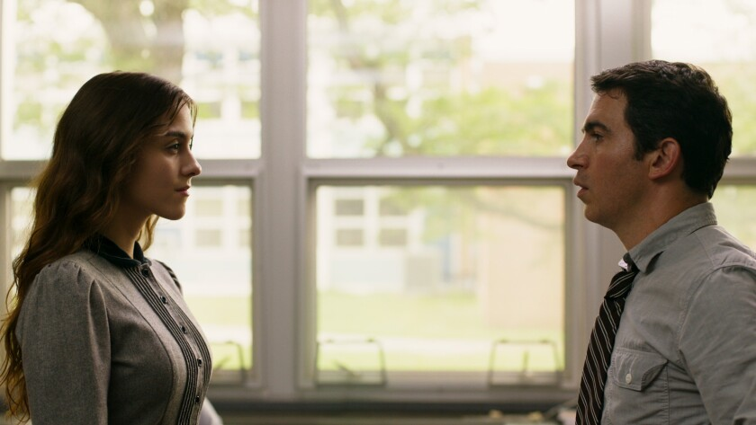 """Quinn Shephard and Chris Messina in the movie """"Blame."""""""