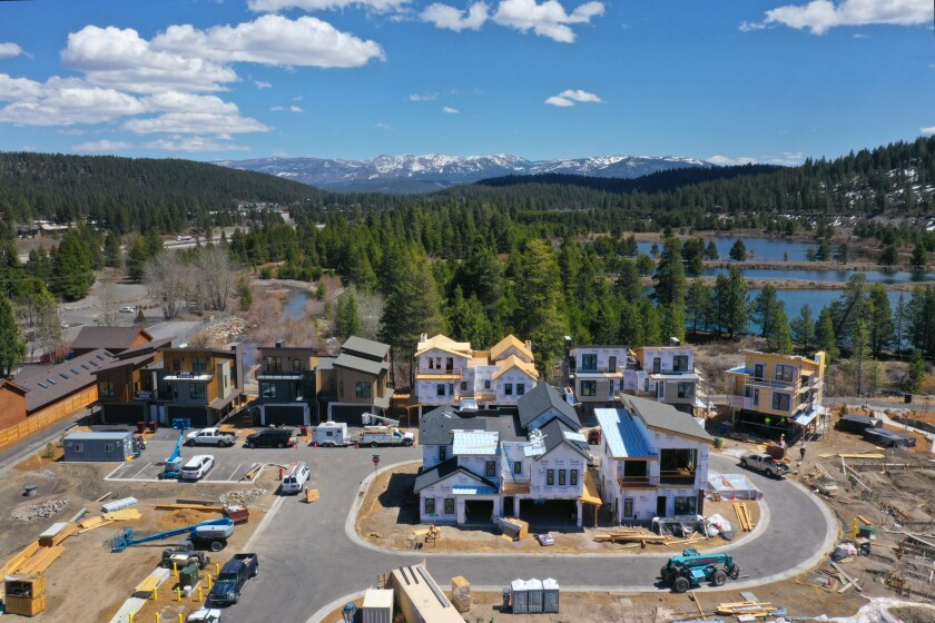 Housing prices and construction in Truckee are on the rise as more people can work virtually