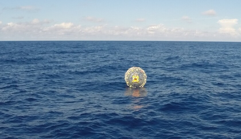 Reza Baluchi planned to travel from Miami to Bermuda in an inflatable bubble. The U.S. Coast Guard rescued him Saturday east of St. Augustine, Fla.