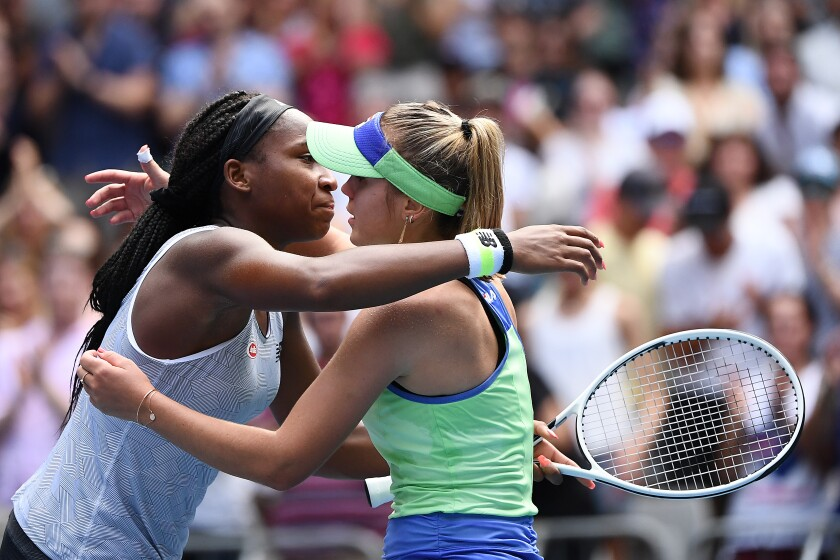 Coco Gauff Loses To Sofia Kenin At Australian Open Los Angeles Times