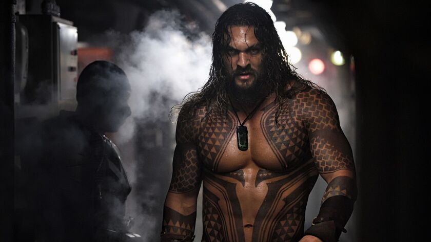 "Jason Momoa as Arthur Curry in ""Aquaman."""