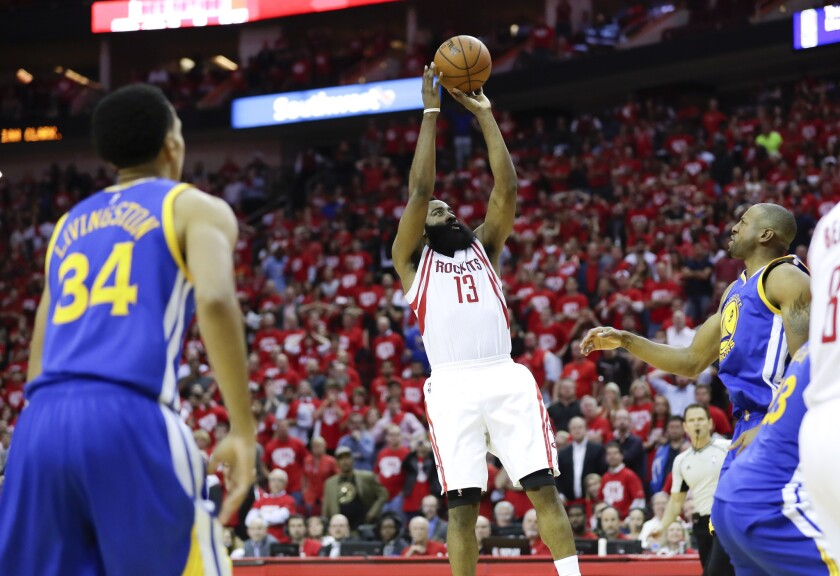James Harden's game-winning shot lifts Houston Rockets over Golden State Warriors