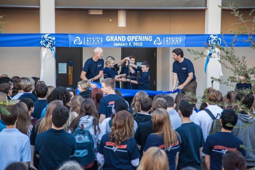 Carlsbad's Pacific Ridge School kicked off the new year with the opening of a new Middle School/Administration building.