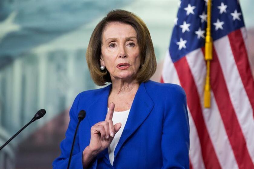 La presidenta de la Cámara de Representantes, Nancy Pelosi. EFE/Archivo