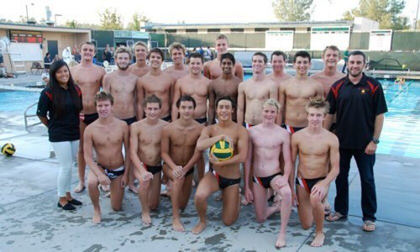 Canyon Crest Academy's Boys Water Polo team.