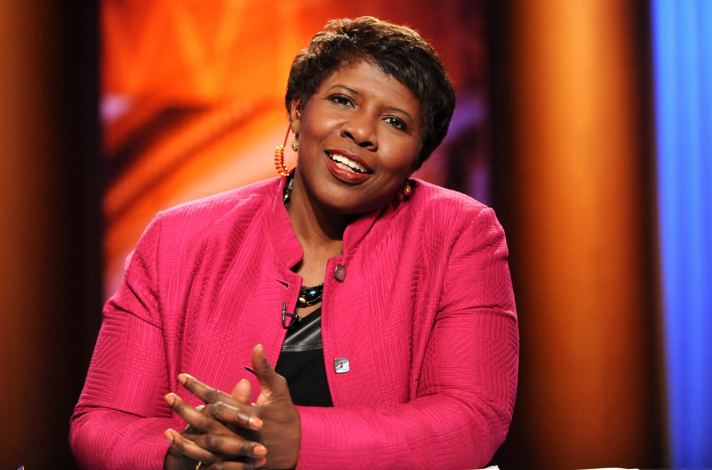 Shown is Gwen Ifill (former Evening Sun employee) in the WETA studios. Photo is to accompany her essay in the Sun Magazine celebrating the 175th anniversary of the newspaper.
