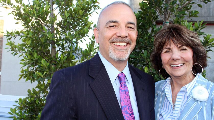 The Glendale Latino Assn. Man and Woman of the Year are Michael Garcia, attorney for the city of Glendale, and Paula Devine, Glendale City Councilwoman.