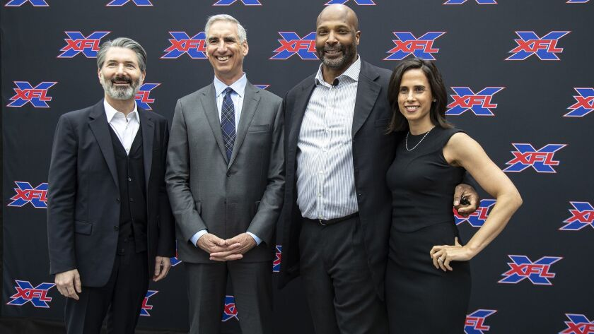 LOS ANGELES, CA - MAY 7, 2019: It was announced that the XFL is coming to Los Angeles at a press con