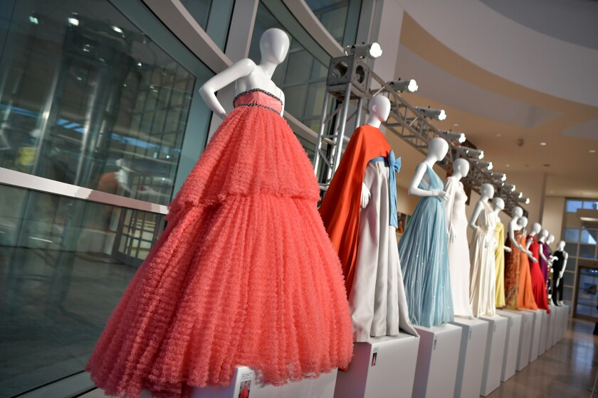 One-night-only display of memorable red-carpet gowns