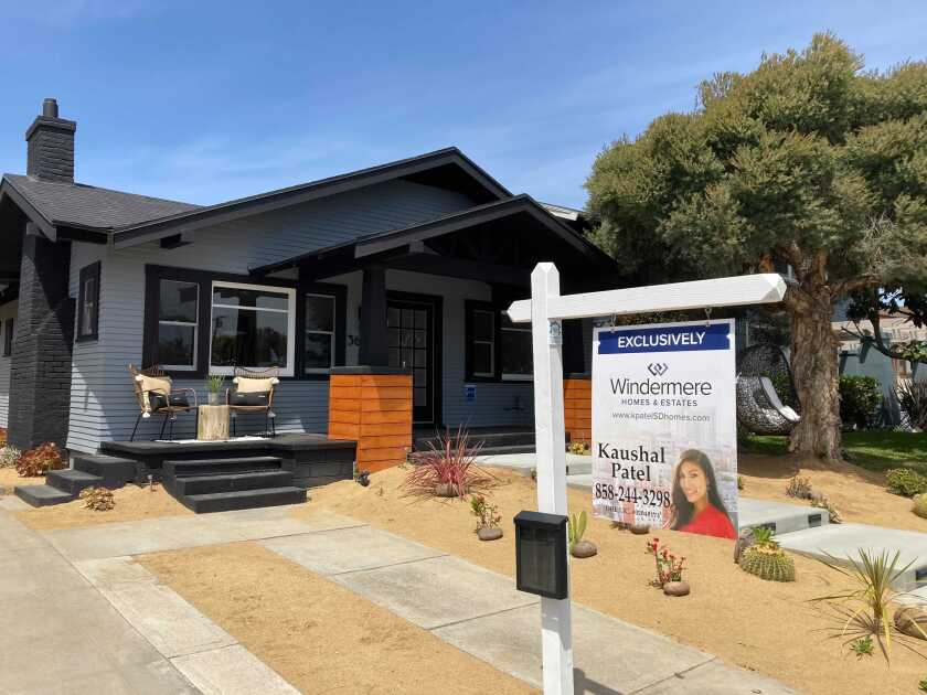 Una casa en venta en San Diego.