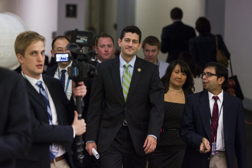 Budget deal is a career-capper for Boehner but complicates Ryan's rise