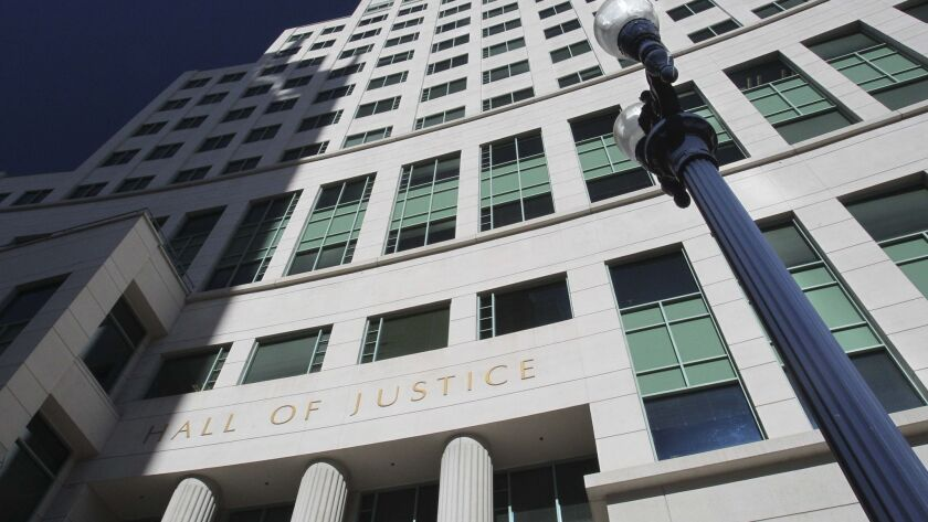 The Hall of Justice in downtown San Diego