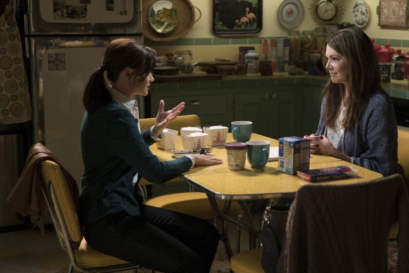 Alexis Bledel as Rory Gilmore, left, and Lauren Graham as Lorelai Gilmore.