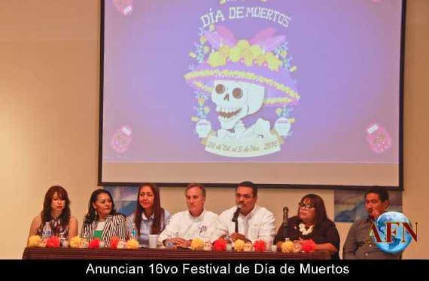 Anuncian 16vo Festival de Día de Muertos