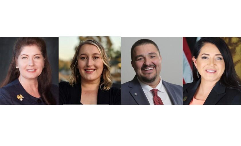 Vista City Council candidates Amanda Young Rigby, Katie Melendez,   Joe Green, Liz Perez.