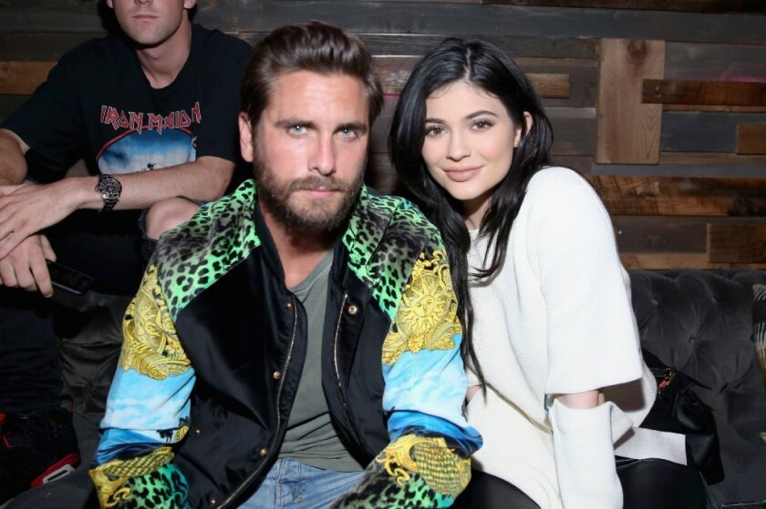 TV personalities Scott Disick, left, and Kylie Jenner attend Nylon Young Hollywood Party presented by BCBGeneration at Hyde Sunset: Kitchen + Cocktails on May 12 in West Hollywood.