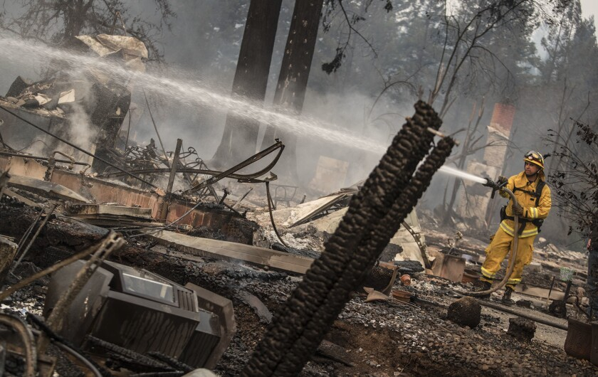 Devastating wildfires in Northern California