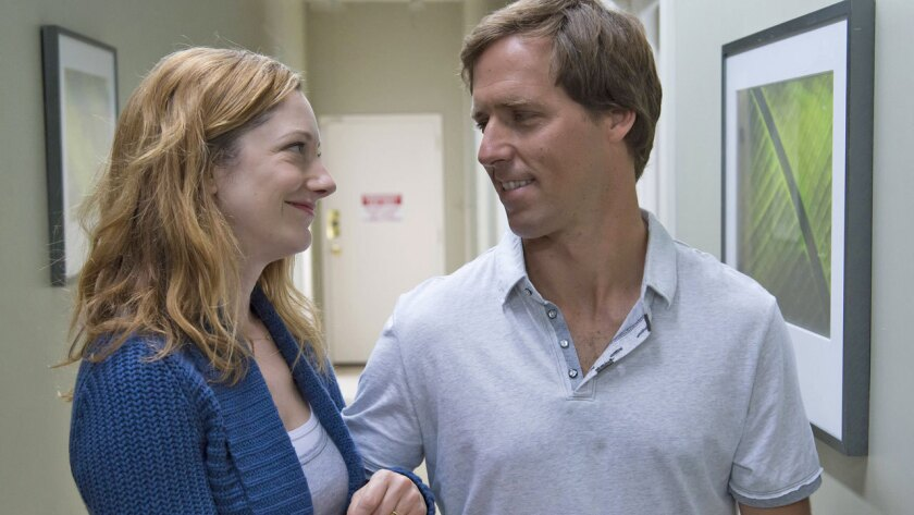 "Judy Greer and Nat Faxon star in ""Married."""