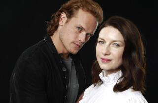 'Outlander' stars Sam Heughan and Caitriona Balfe benefit from having novelist Diana Gabaldon on set
