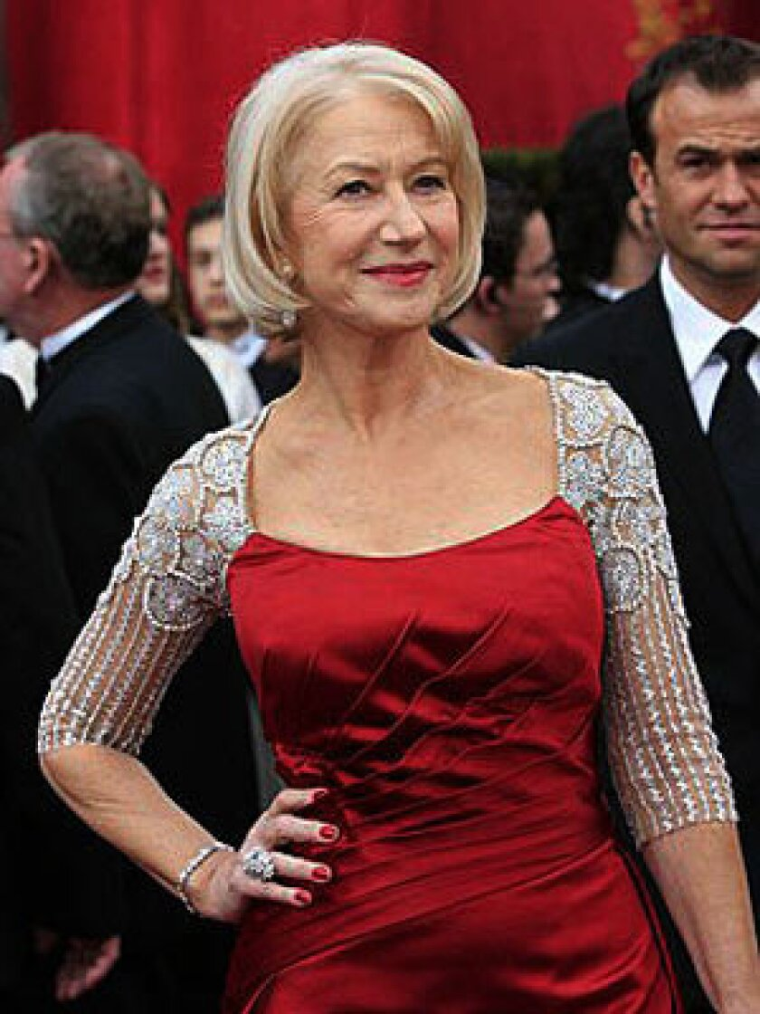 An icy pastel yellow works best for Helen Mirren and others with platinum, ashy blond or gray.