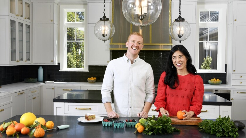 LOS ANGELES, CA-March 28, 2019: Los Angeles Times cooking columnists Genevieve Ko and Ben Mims on Th