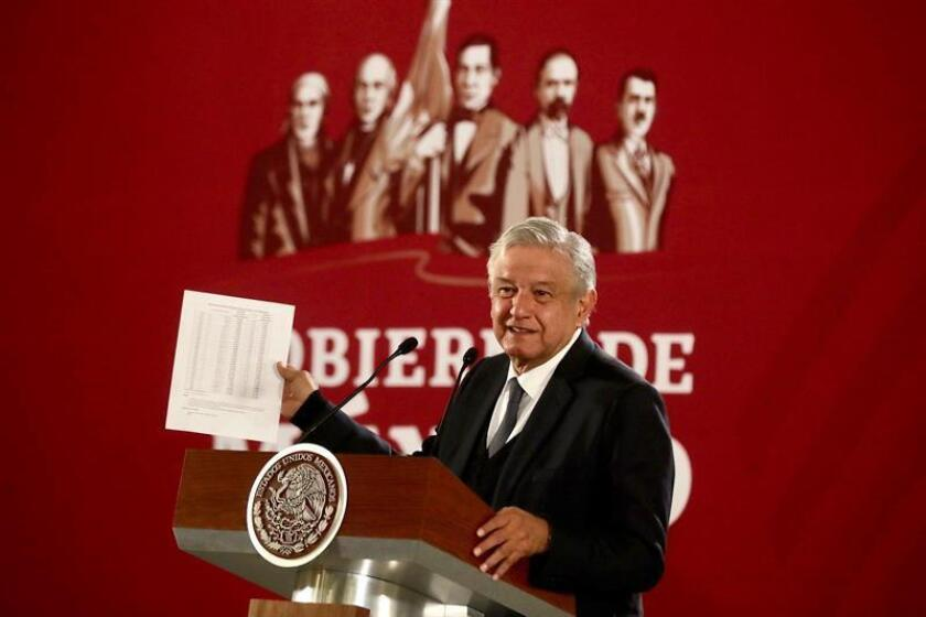 Courtesy image of the Mexican government: President Andres Manuel Lopez Obrador said Wednesday that the Mexican government does not engage in wiretapping and he urged people to use their telephones without fear. Mexico City, Mexico. Dec. 19, 2018. EPA-EFE/Mexican presidency/EDITORIAL USE ONLY