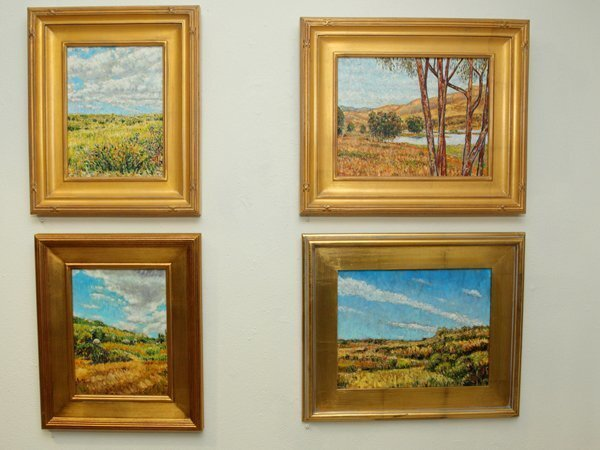 Works by artist Ed Roxburgh on display at Solana Beach City Hall