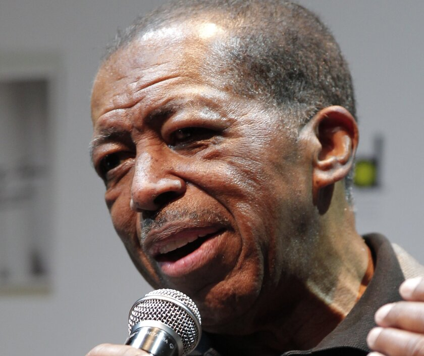 """FILE - In this Nov. 15, 2011 file photo, American soul singer Ben E. King speaks during a news conference in Tokyo. One of the most broadcast songs of the 20th century, Ben E. King's """"Stand by Me,"""" has been selected for preservation at the Library of Congress, along with recordings from Joan Baez, The Righteous Brothers, Steve Martin and the darker sounds of the band Radiohead. (AP Photo/Itsuo Inouye, File)"""