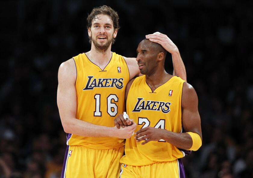Pau Gasol and Kobe Bryant created a new dynamic for the Lakers.