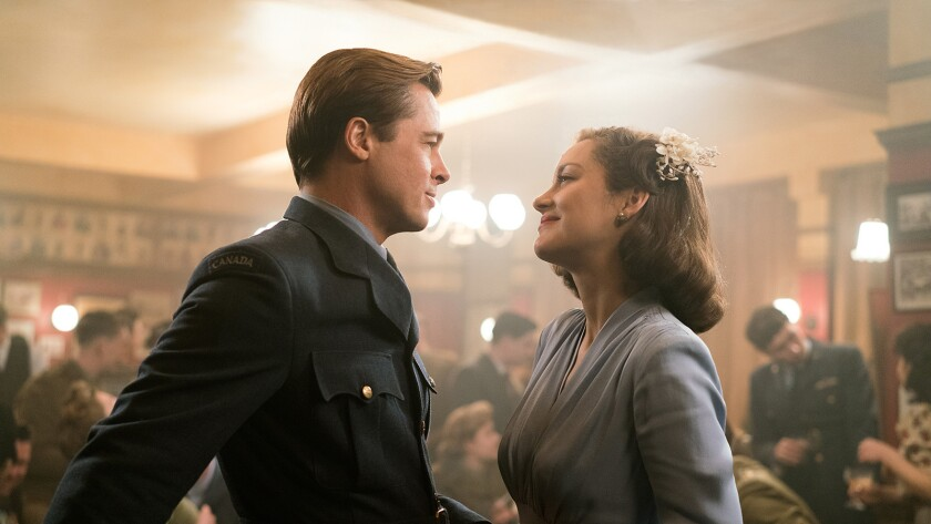 "Brad Pitt and Marion Cotillard star in the 2016 WWII drama ""Allied"" airing on Epix."