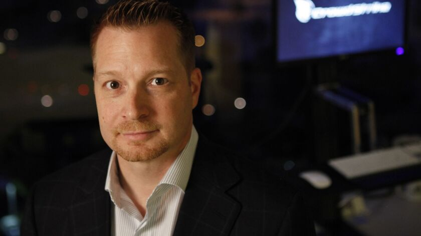 IRVINE, CA: December, 3, 2012 - CrowdStrike Chief Executive George Kurtz is photographed in the com