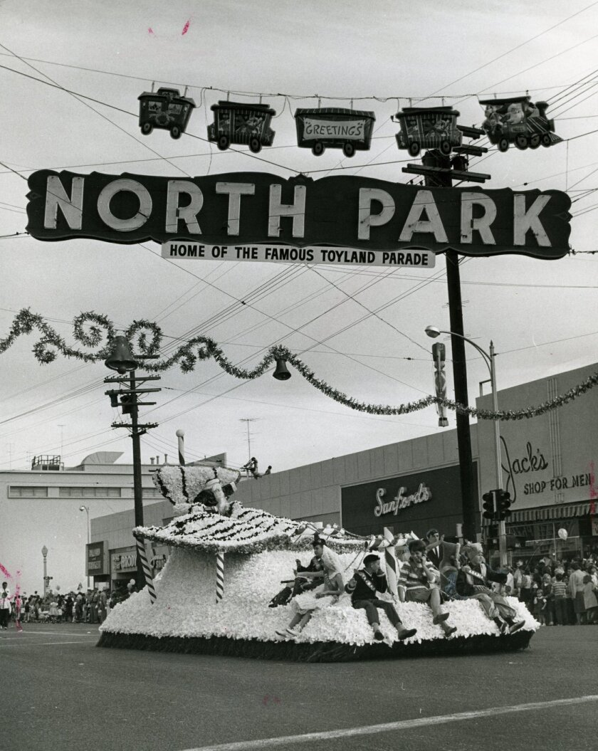 North Park's Toyland parade is a San Diego tradition that dates back to the 1930s. This image is from 1963.