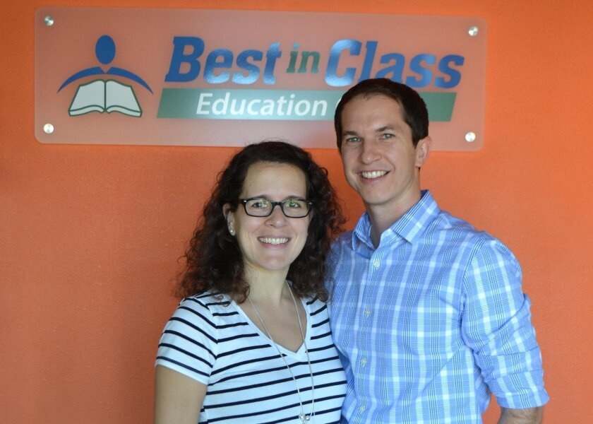 Caroline and David Kryzwicki, owners of Best in Class Education Center in Poway.