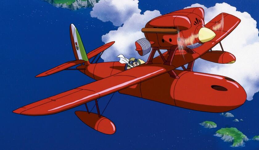 Porco flies a plane in 'Porco Rosso'