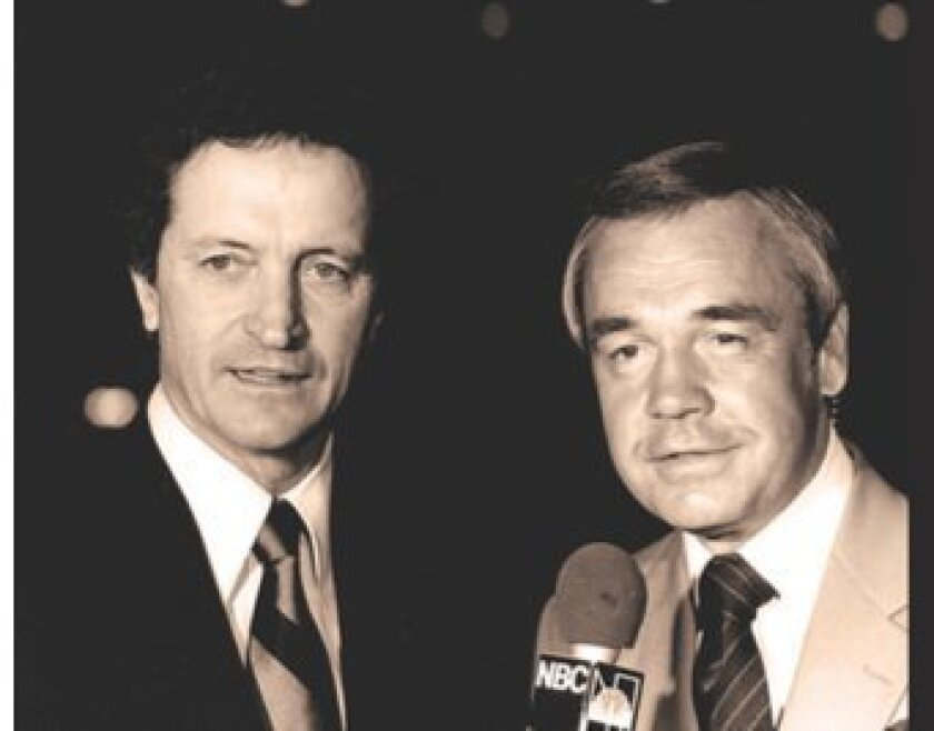 Dick Enberg (right) with Al McGuire. 